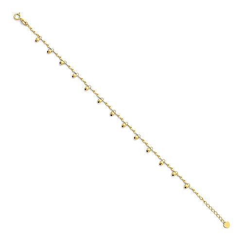 14K Gold Bead Bracelet
