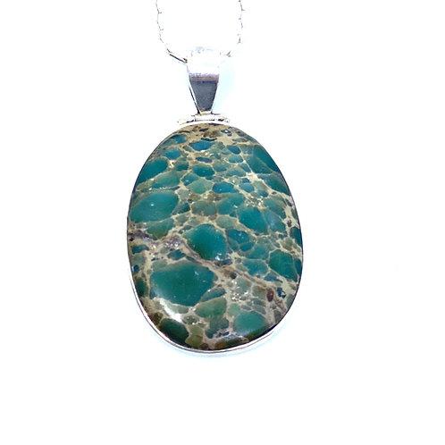 Green Gemstone Sterling Silver Pendant