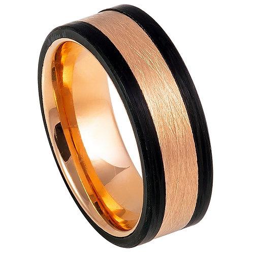 Forged Composite Carbon Fiber & Rose Gold Center - 8mm