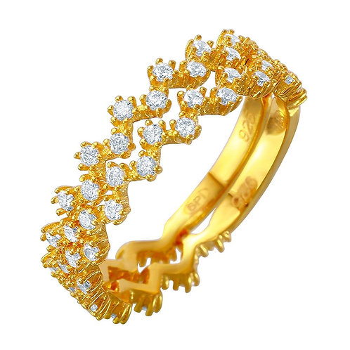 Double Stacking Gold Plated Eternity Ring