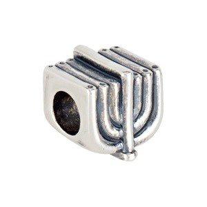 Sterling Silver 9.5 mm Menorah Slider Bead