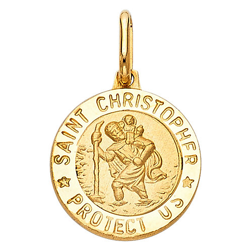 14KY ST. CHRISTOPHER RND MEDAL