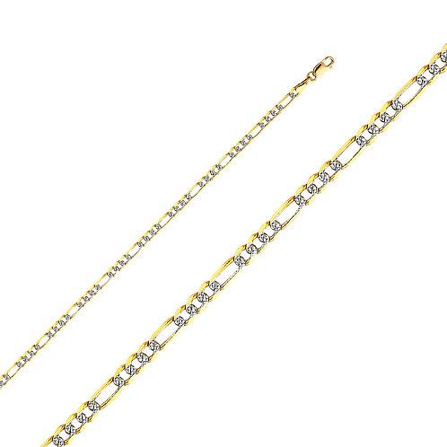 14K 080(3.1MM) LIT FIGARO WP 3+1 - 7