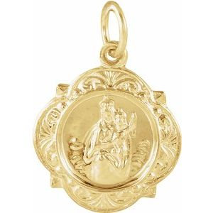 14K Yellow 12.14x12.09 mm Scapular Medal