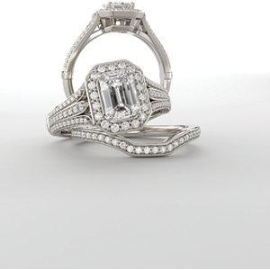 **10K White & Yellow 15 mm Round Engagement Ring Mounting