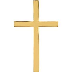 18K Yellow Cross Pendant