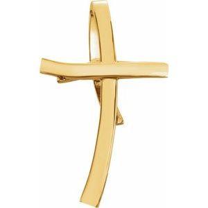 14K Yellow 36.75x22.25 mm Cross Pendant