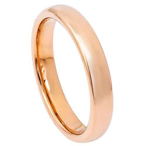 Domed Rose Gold Plated High Polish - 4mm