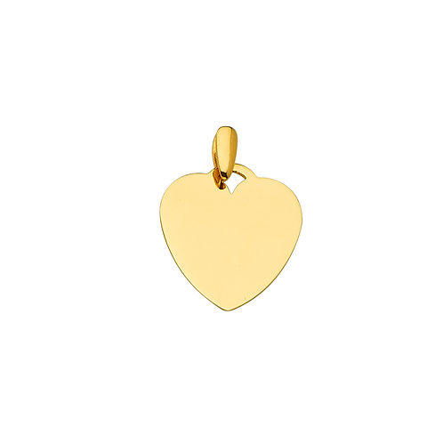 14KY Engravable Heart Pendant