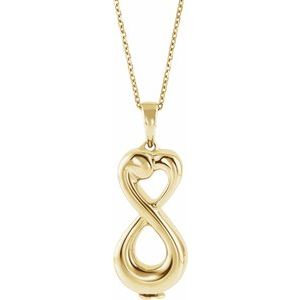 "10K Yellow Infinite Love Ash Holder 18"" Necklace"