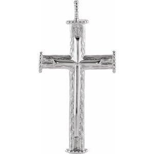 Sterling Silver 39x23 mm Cross Pendant