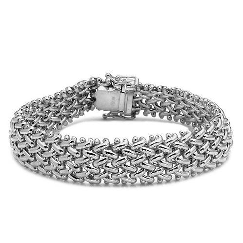 925 Rhodium Plated Braided Bracelet
