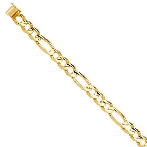 14KY Solid Link Bracelet