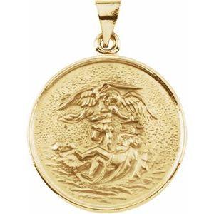 18K Yellow 24.5 mm St. Michael Medal