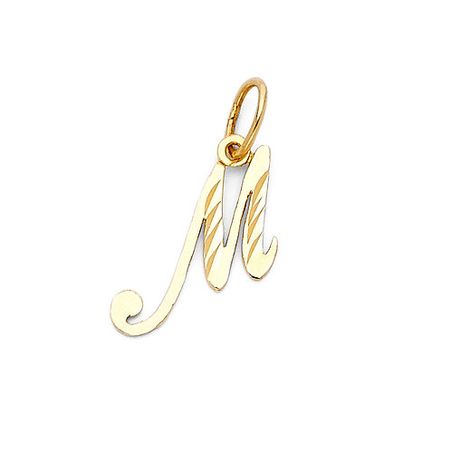 14KY INITIAL PENDANT A