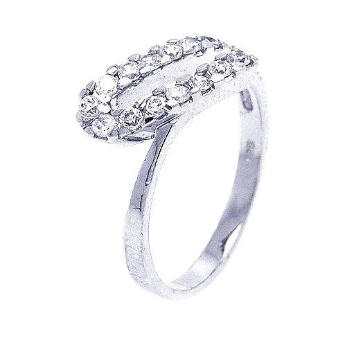 925 Rhodium Plated CZ Ring