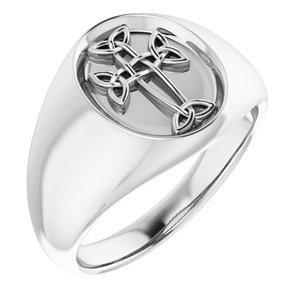 Sterling Silver Celtic-Inspired Cross Ring