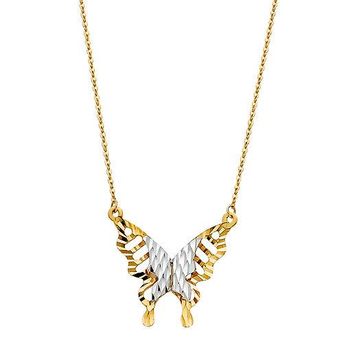 14K Gold Butterfly Light Necklace