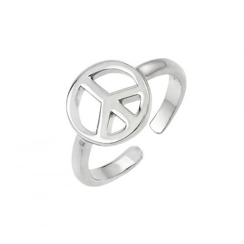 925 Rhodium Plated Peace Toe Ring