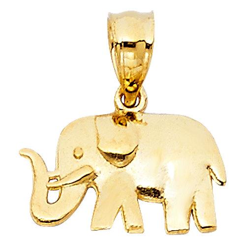 14KY ELEPHANT PENDANT