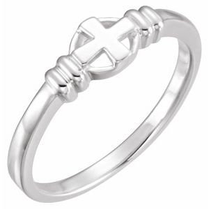 Sterling Silver Cross Chastity Ring Size 6