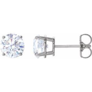 14K White 2 CTW Diamond Earrings