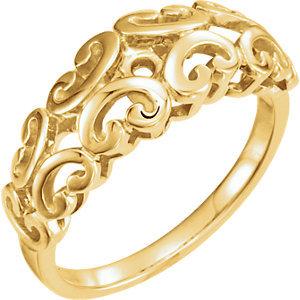 **10K Yellow Engagement Ring Base