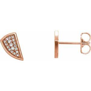 14K Rose 1/10 CTW Diamond Earrings