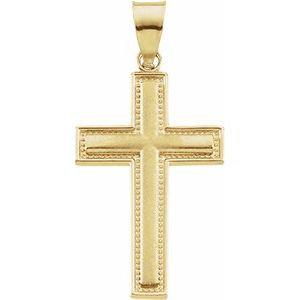14K Yellow 23.75x15.5 mm Cross Pendant