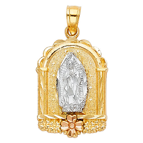 14K 3C OUR LADY OF GUADALUPE PENDANT
