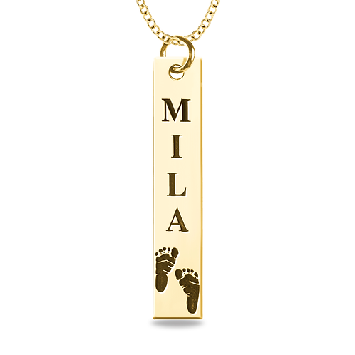 PRINT AND NAME BAR PENDANT