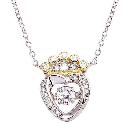 Queen Dancing Heart Necklace