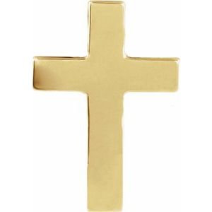 14K Yellow 9x7 mm Cross Lapel Pin