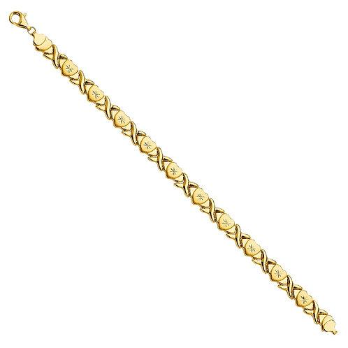 14KY Stampato Bracelet