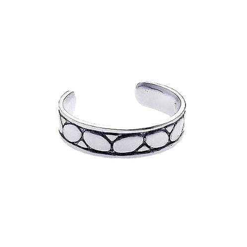 925 Rhodium Plated Rock Toe Ring