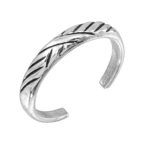 925 Multi Slash Adjustable Toe Ring