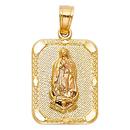 14K 2T OUR LADY OF GUADALUPE PENDANT