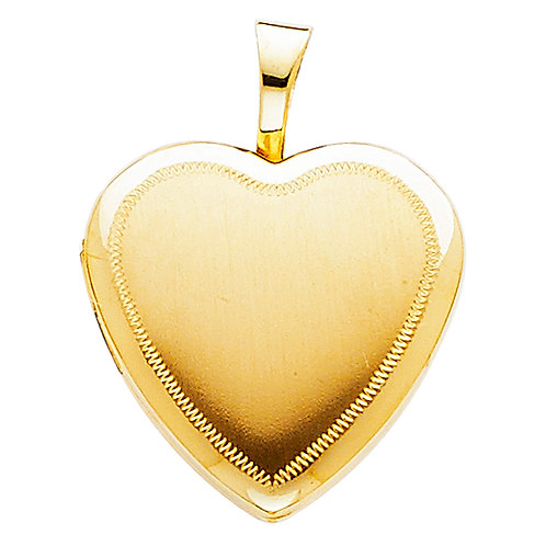14KY HEART LOCKET PENDANT