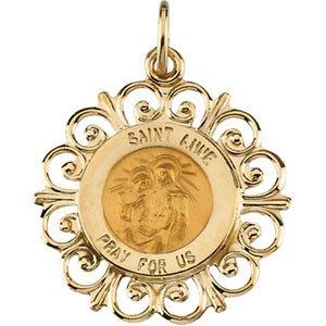 14K Yellow 18 mm St. Anne de Beau Pre Medal