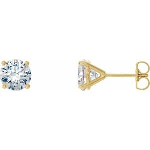 14K Yellow 1/2 CTW Diamond 4-Prong Cocktail-Style Earrings