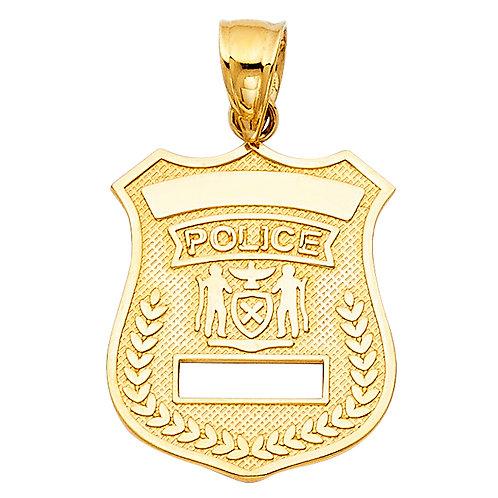 14KY POLICE PENDANT