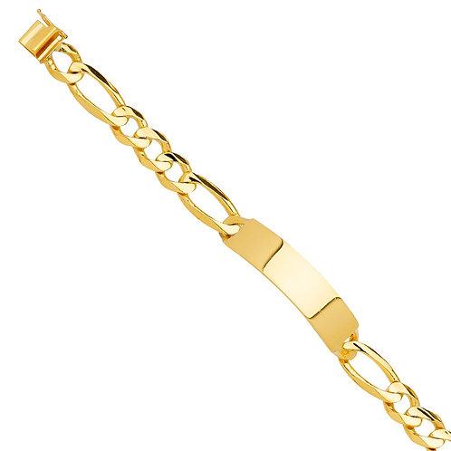 14KY Solid Link ID Bracelet