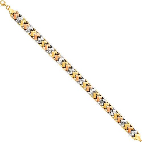 14K Tricolor Gold Bracelet