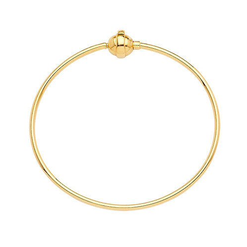 14KY Hollow Bangle for Mix & Match  - 7.5