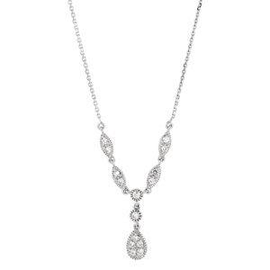 """14K White 1/4 CTW Diamond """"Y"""" 18"""" Necklace"""