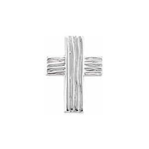 Sterling Silver 13x10 mm The Rugged Cross® Lapel Pin