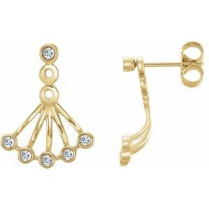 14K Yellow 1/6 CTW Diamond Earrings