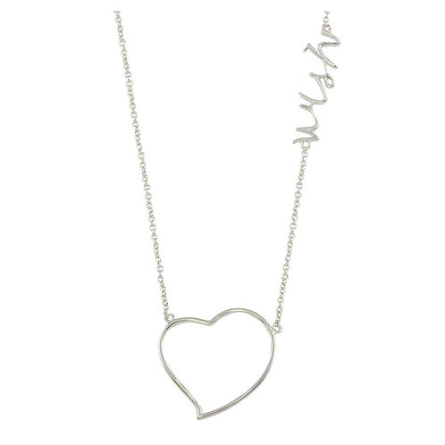 "Heart Wish"" Sterling Silver Necklace"