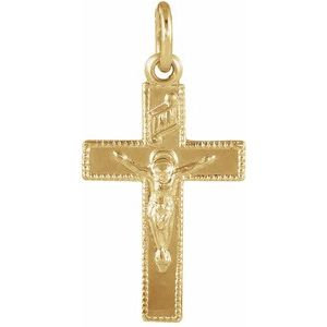 14K Yellow 14x9 mm Child's Crucifix Pendant