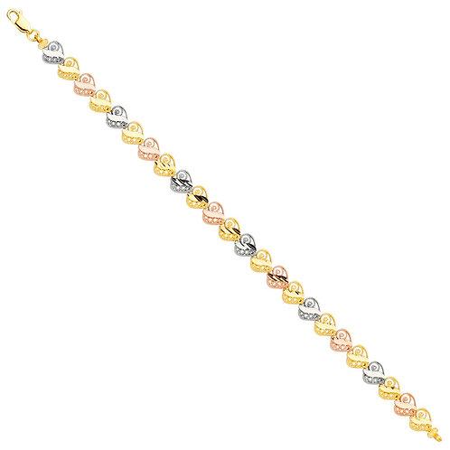 14K 3Color Bracelet